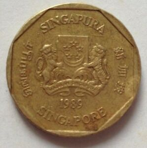 Singapore 1989 2nd Series 1 Dollar coin