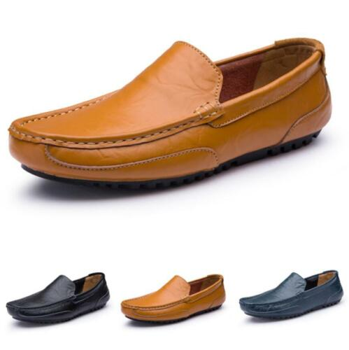 Mens Driving Moccasins Flats Breathable Comfy Soft Pumps Slip on Loafers Shoes D