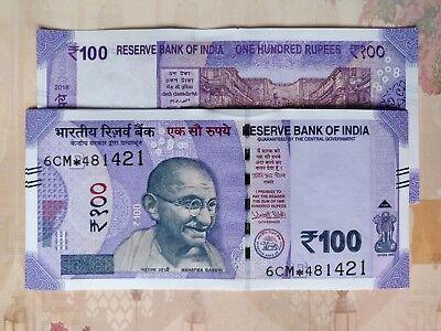 0CC Prefix UNC 2018 L Inset P-112 India New 100 Rupees Replacement Series
