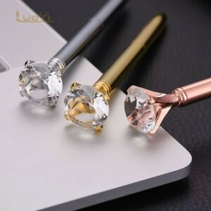 Hot Diamond Head Crystal Ball Pen Concert Ballpoint Pen Creative Pen Stationery