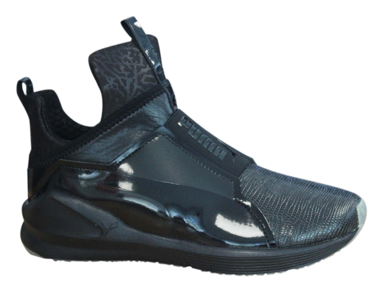 Puma Fierce metallisch Damen Turnschuhe ohne Bügel Mid Schuhe schwarz 189865 03