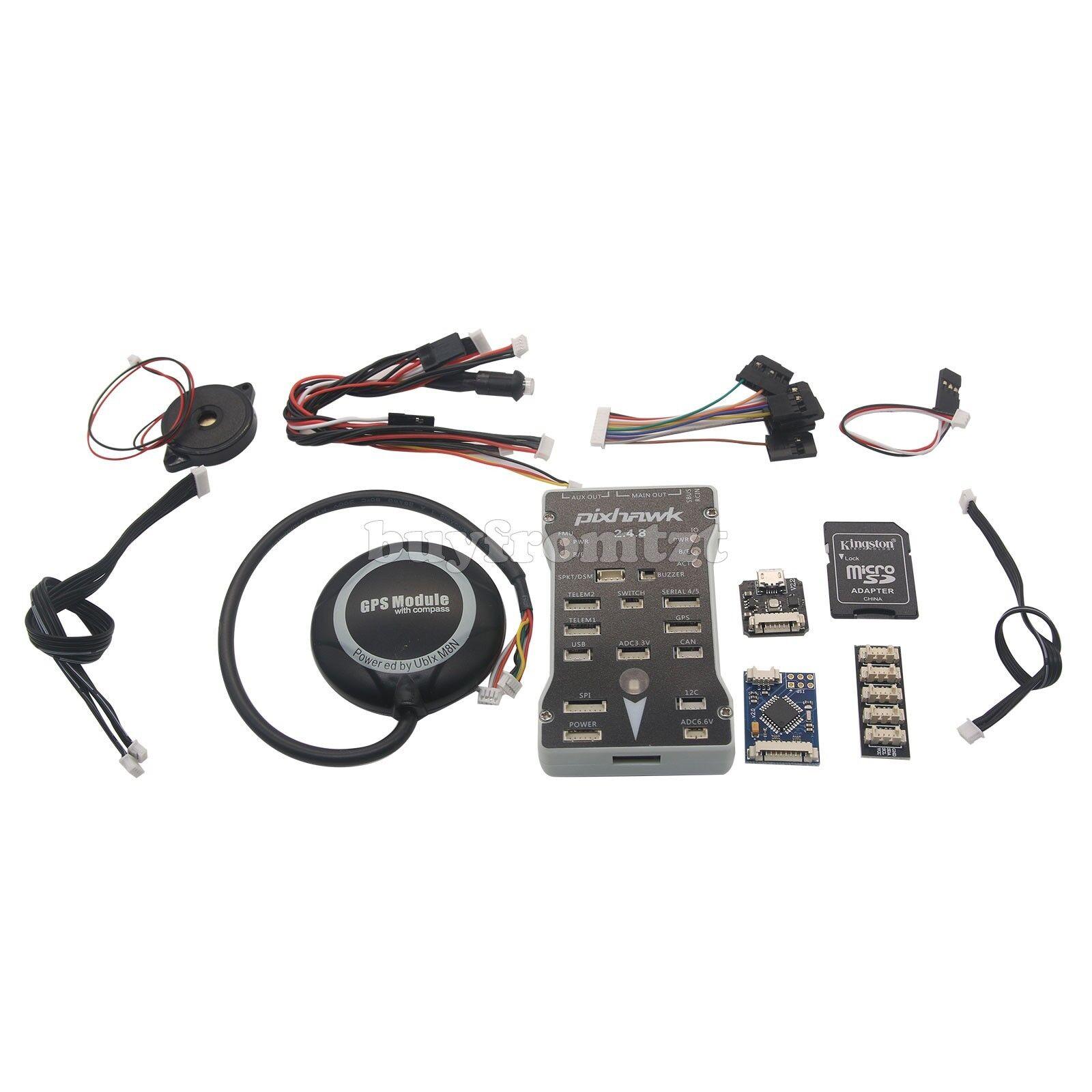 con il prezzo economico per ottenere la migliore marca Pixhawk PX4 2.4.8 ARM FPV volo Controller+M8N Controller+M8N Controller+M8N GPS+PPM +LED +I2C Splitter B-  a buon mercato