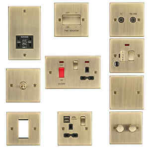 Marvelous Rounded Edge Antique Brass Socket Switch Usb Spur Dimmer Wiring Wiring Digital Resources Inklcompassionincorg