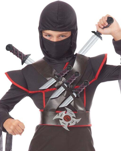 Brand New Stealth Ninja Weapons Belt Halloween Costume Accessory