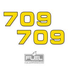 John Deere 709 Bush Hog Rotary Cutter Premium Vinyl Decal 2 Pack 9 X 275