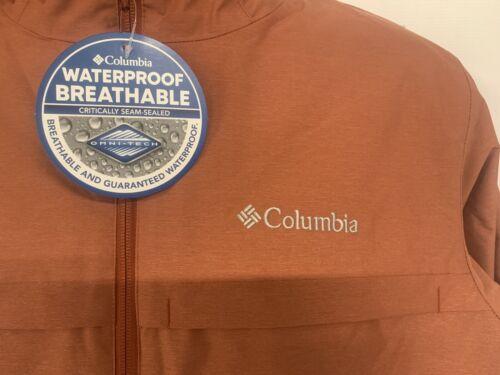 Columbia Omni-Tech Novelty Hooded Jacket Men's XL Waterproof Insulated  K-3