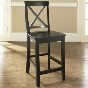 Terrific Details About Crosley Furniture 24 X Back Counter Stool In Black Set Of 2 Unemploymentrelief Wooden Chair Designs For Living Room Unemploymentrelieforg