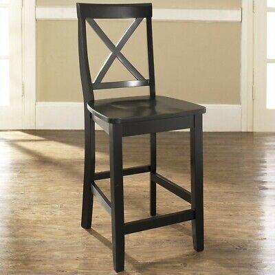 Amazing Crosley Furniture X Back Bar Stool In Black Finish With 24 Inch Seat Height Creativecarmelina Interior Chair Design Creativecarmelinacom