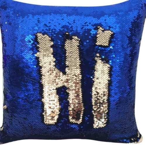 Two Tone Glitter Sequin Throw Pillow Case Cushion Color Changing Sofa Cover New Indian/South Asian Home Décor Pillows