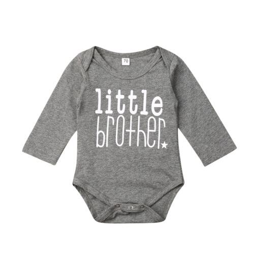UK Cute Kids Boy Matching Clothes Big Brother Top T-shirt Little Brother Romper