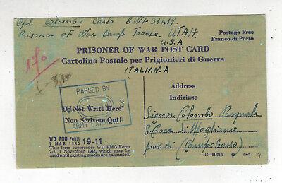 Usa Briefmarken 1945 Camp Tooele Ut Italienisch Postkarte Abdeckung Zu Italien Prisoner Of War Exquisite Traditionelle Stickkunst