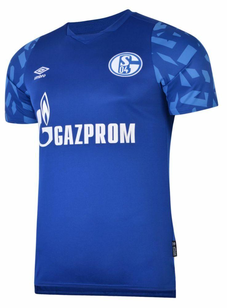UMBRO Football Calcio FC Schalke 04 S04 Da Uomo Home Jersey Shirt Top 2019 2020