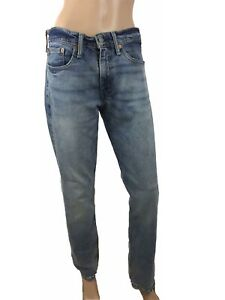 Levis-511-Mens-Jeans-Cotton-Zipped-Fly-Washed-Slim-Straight-Fit-W31-L32-M