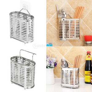Details about Hanging Large Kitchen Utensil Caddy Stainless Steel Cooking  Tools Holder