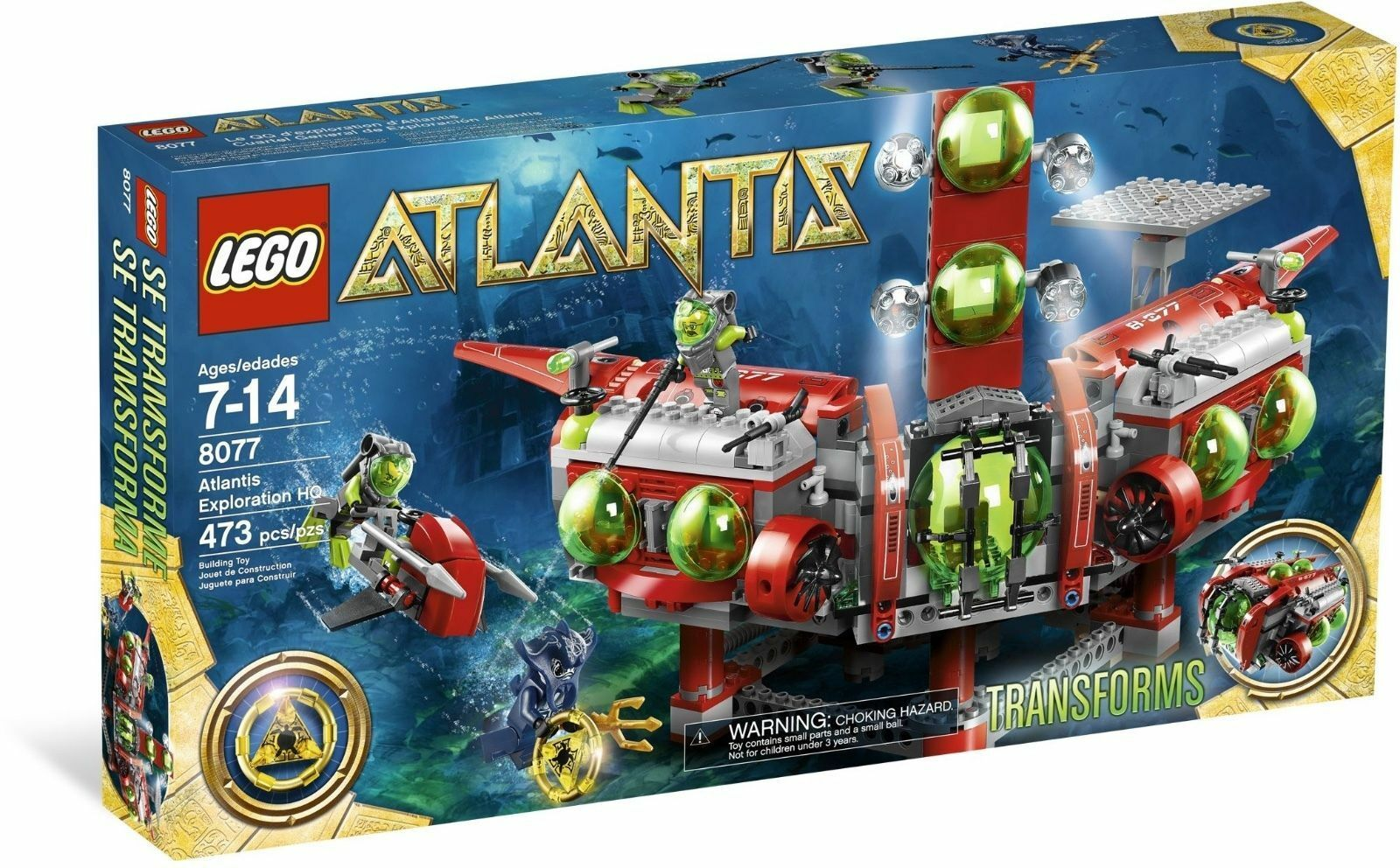 NEW SEALED SEALED SEALED Lego set 8077 ATLANTIS Exploration HQ 34d25f