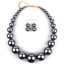 Fashion-Boho-Crystal-Pendant-Choker-Chain-Statement-Necklace-Earrings-Jewelry thumbnail 108