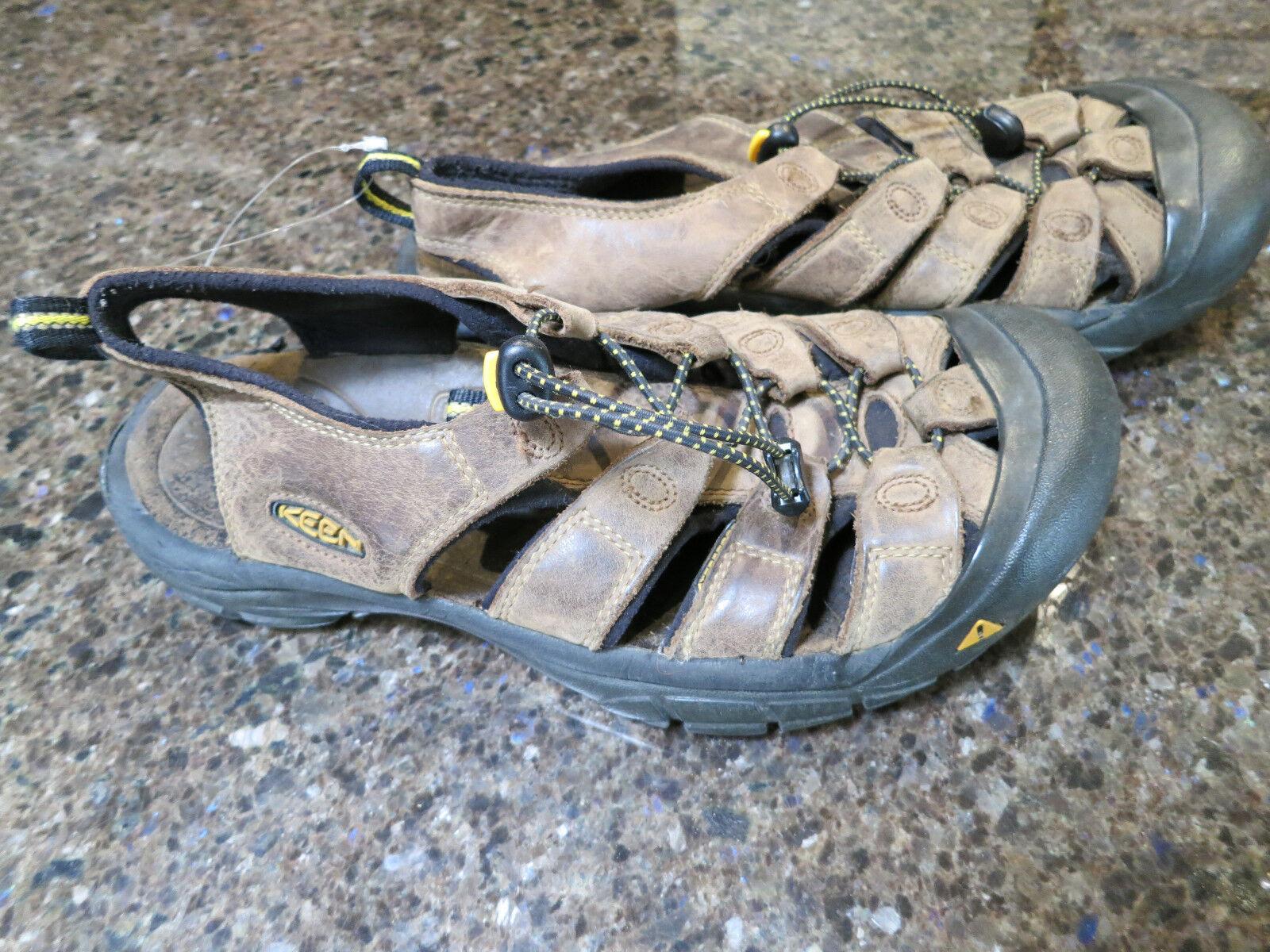 Keen Leather Newport H2 Men's Hiking Sandals Brown 9.5