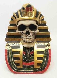 Egyptian King Tut Pharaoh Skull Horror Collection Figurine Statue Skeleton Head