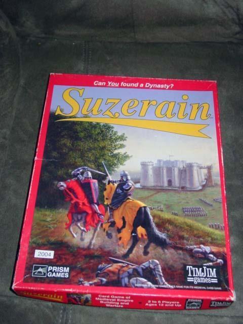 Prism + TimJim Games 1993 - SUZERAIN game - Medievel Empire Building and Warfare