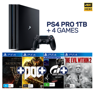 PlayStation-4-Pro-1TB-Black-Console-4-Games-PlayStation-4-BRAND-NEW