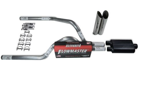 "Dodge Dakota 97-05 2.5/"" Dual Truck Exhaust Kits Flowmaster Super 44 Slash Tips"