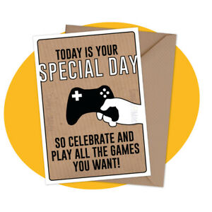 PERSONALISED-BIRTHDAY-CARD-Special-Day-gamer-console-pc-xbox-playstation