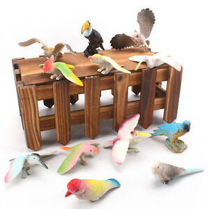 12X-Set-Birds-Figures-Toys-Set-Children-Kid-Animal-Model-Toy-Kit-Hard-PlasticFJ