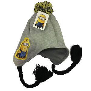 Caricamento dell immagine in corso MINIONS-cappello-con-paraorecchie -trecce-e-pon-pon- 057322225391