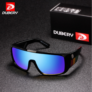 3d7b1ef5b9 Image is loading DUBERY-Mens-Sport-Sunglasses-Outdoor-Driving-Windproof- Square-