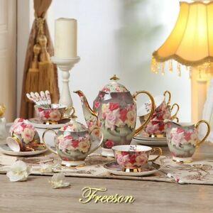 Service à Café Rose Bone China British porcelaine pot en céramique Pot à lait sucrier