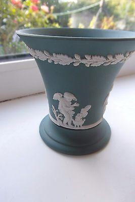 Wedgwood Teal Jasperware Vase 1984