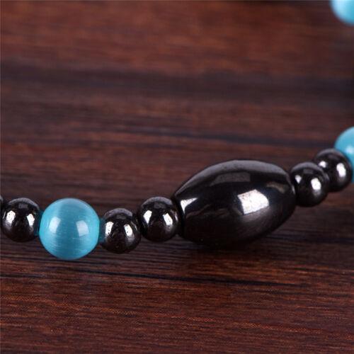 Weight Loss Black Stone Bracelet Health Care Biomagnetism Magnetic Bracelet BCD