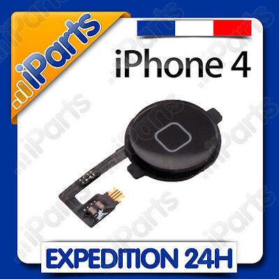 BOUTON HOME + NAPPE POUR IPHONE 4 NOIR