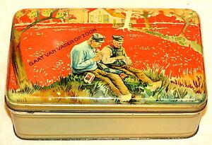 Dutch Rotterdam Van Nelle Father and Son Tobacco Tin 1920s