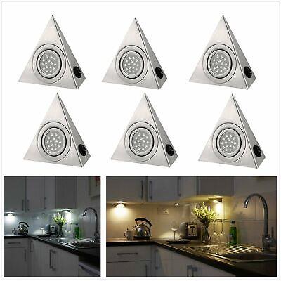 2 PCS Round Under Cabinet LED Mains Kitchen Cupboard Light Kit Cool//Warm White