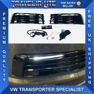 VW-T6-DRL-Kit-Negro-Brillante-Transportador-De-Gran-Calidad-15-19