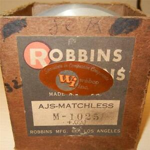 1956-1959-Matchless-G80CS-500cc-NOS-86mm-090-034-bore-Robbins-bare-piston-ONLY-32