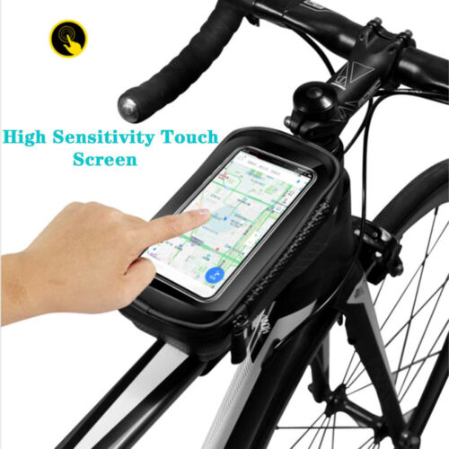 MTB Bicycle Cycling Bike Front Top Tube Frame Bag Phone Holder Case Waterproof