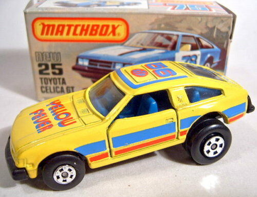 Matchbox Matchbox Matchbox SF Nr. 25D Toyota Celica yellow Hot-Rod USA-Box e07d18
