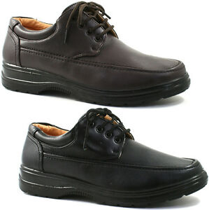 MENS SMART UNS CASUAL FORMAL SHOES SIZE UK 6 - 12 COMFORT BLACK OR BROWN M824 KD