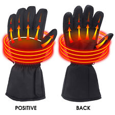Qilove Electric Battery Heated Winter Warmer Gloves Motorcycle Hunting Outdoor
