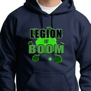 the latest cc34d 6f877 Details about LEGION OF BOOM 2 Sherman Browner T-shirt Seattle Seahawks  Hoodie Sweatshirt