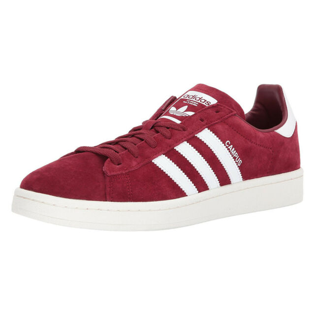 f9c0fb2727a84f Mens adidas Campus Collegiate Burgundy Running White Chalk White ...