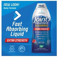 Wellesse Joint Movement 33.8 oz Glucosamine Chondroitin MSM Berry Flavor - NEW