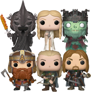Lord of the Rings 6 Set Funko Pop Vinyl Bundle New in Boxes