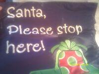 Holiday Tree Wrap - Santa, Please Stop Here - Nip