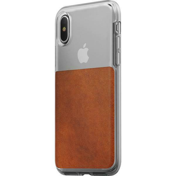 buy popular 011ae 7fc5f Nomad Leather Clear Case for iPhone X NM218R0200