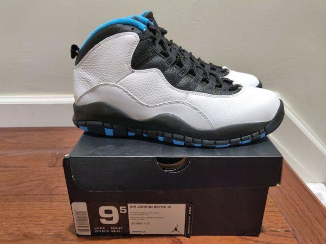 separation shoes abcbf da514 Nike Air Jordan 10 X Retro UNC White Black Powder Blue Orlando 310805-106  9.5