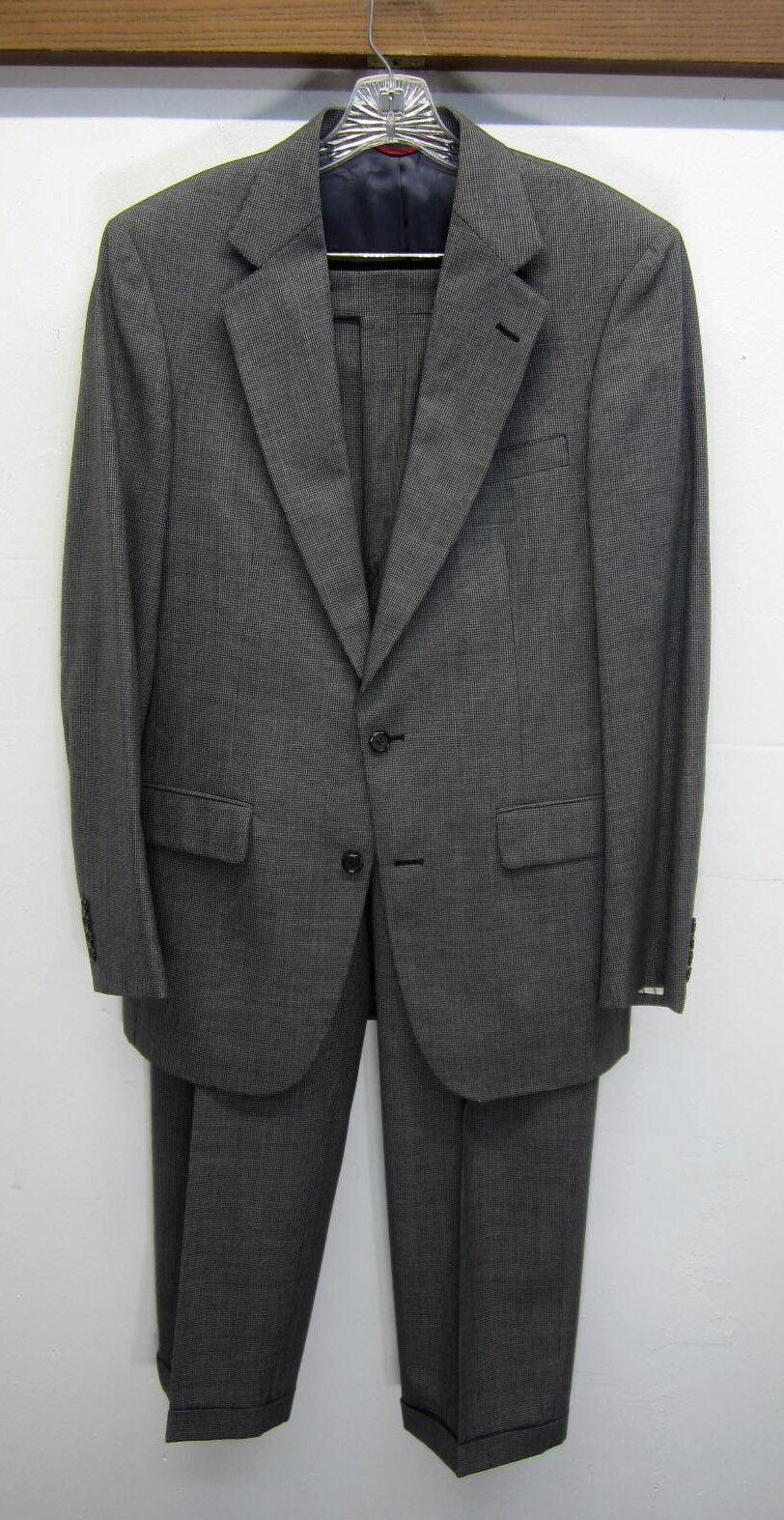 Vtg Jos A Bank Executive Collection Suit Blazer & Pants houndstooth sz 39L 34x31