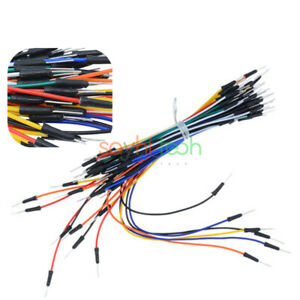 65xMale to male solderless flexible breadboard jumper cable wires for arduiFBIJ